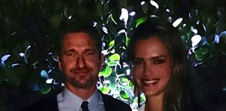 Gerard Butler and Jetss co-founder, Camila Alves during Art Basel in Miami (Photo: JETSS)