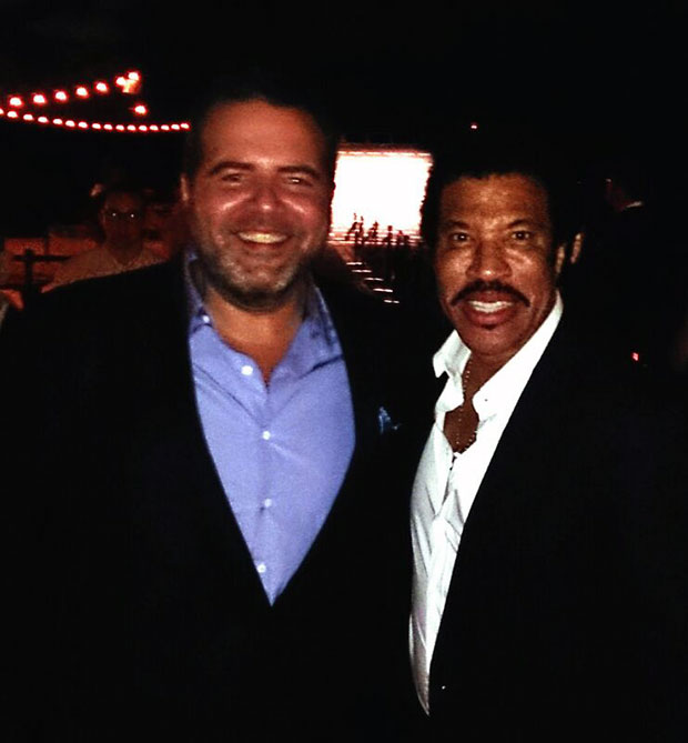 Forbes CEO, Antonio Camarotti and Lionel Richie ar Audemars Piguet dinner in Miami (Photo: JETSS)