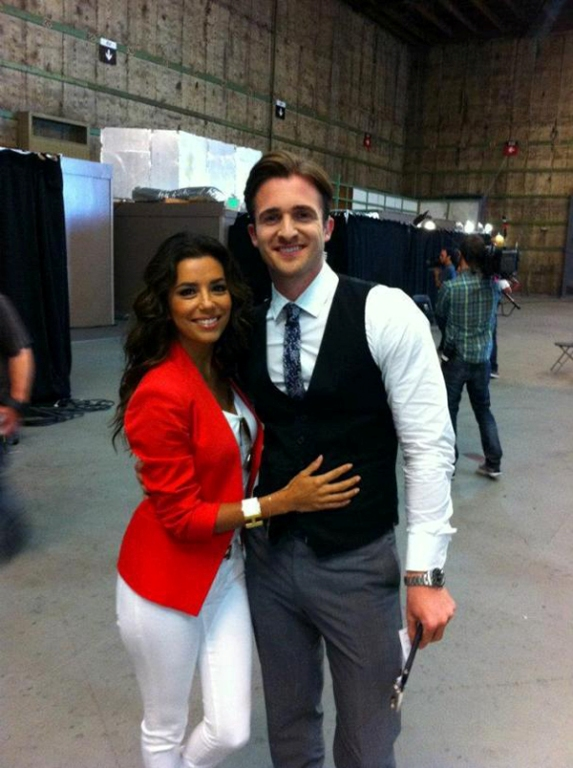 Eva Longoria, executive producer of 'Ready For Love', and Matthew Hussey program on NBC studio. (Photo: Courtesy)