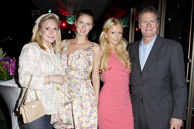 Hilton's family: Kathy, Nicky, Paris and Richard Hilton. (Photo: PR)