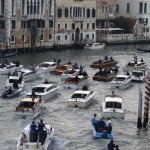 U.S. actor George Clooney travels on a taxi boat (Amore) in the Grand Canal in Venice. (STEFANO RELLANDINI/REUTERS)