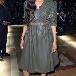 CIARA Also at the Lanvin show, the gorgeous singer styles a belted leather trench dress. Dominique Charriau/WireImage