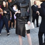 COCO ROCHA The supermodel struck a fierce pose outside the Dior show. Jacopo Raule/GC Images