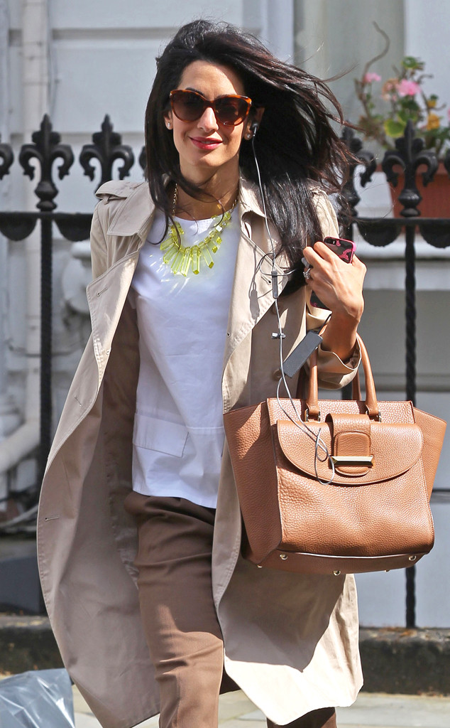 Amal Alamuddin-Clooney in London (Photo: FameFlynetUK)
