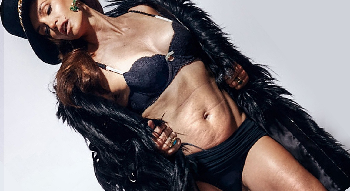 100% zero air-brush or retouching for Cindy Crawford (Photo: MarieClaire)