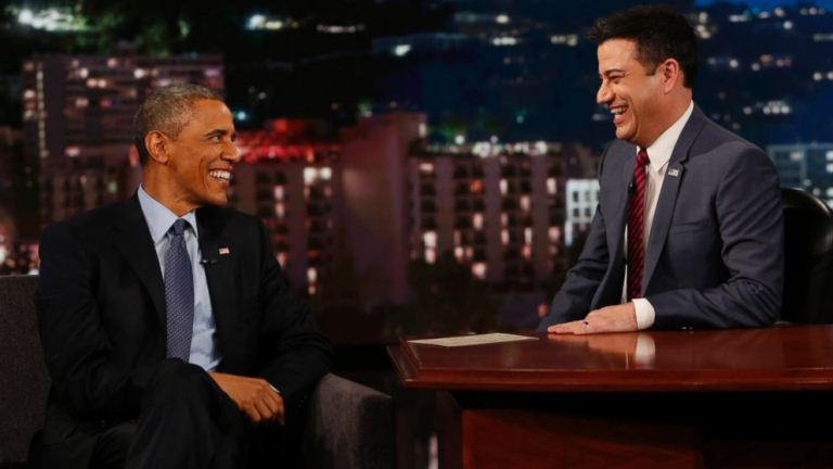 President Obama on The Jimmy Kimmel Show (Photo: ABC)
