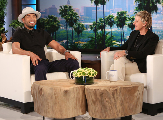 Jussie Smollett on today's episode of Ellen (Photo: Michael Rozman/Warner Bros.)