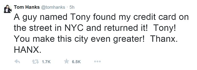 Tom Hanks reply to nice stranger (Photo: whosayit)