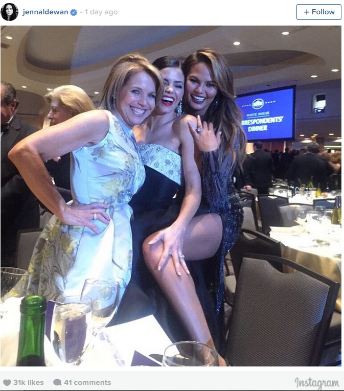 Katie Couric, Jenna Dewan-Tatum, and Chrissy Teigen (Photo: Instagram)