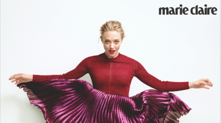 Amanda Seyfried on August's Marie Claire (Photo: MC/Courtesy)