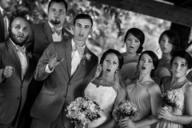 Wedding photog falls and snaps the best shot of his career…