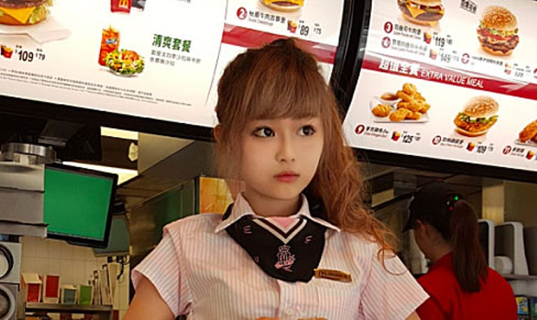Does looking alluring sell burgers? Ask McDonald's Goddess' Wei Han Xu (Photo: Instagram)