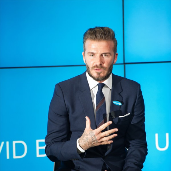 David Beckham partners with Kent and Curwen to create a new line of men's clothing (Photo: BangShowBiz)