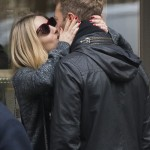 Chris Martin and Annabelle Wallis dance in the streets of Paris (Photo: AKM-GSI)