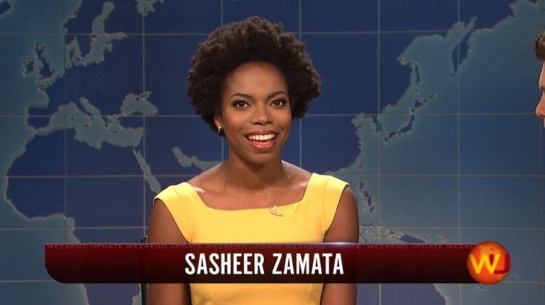 Comedienne Sasheer Zamata is named ACLU's Ambassador for Women's Rights (Photo: SNL)