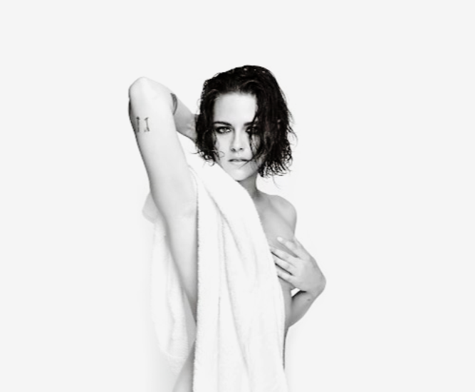 Kristen Stewart poses for the 'Towel Series' in just a towel, to promote her upcoming film  (Photo: Instagram)