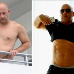 Vin Diesel proving he's still in shape by flashing his abs (Photo: Brett Kaffee / Thibault Monnier / Instagram)