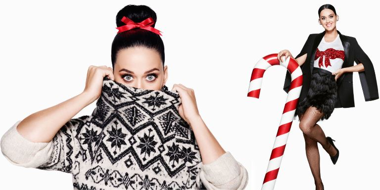 Katy Perry shot a holiday commercial with her own creative twist for H&M (Photo: H&M)