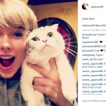 5. Oh Hey, It's Taylor Swift and her cat again! (Photo: Instagram)