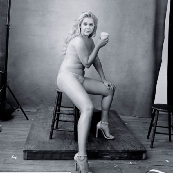 Amy Schumer posted this: Beautiful, gross, strong, thin, fat, pretty, ugly, sexy, disgusting, flawless, woman. Thank you Annie Leibovitz! (Photo: Instagram, @amyschumer)