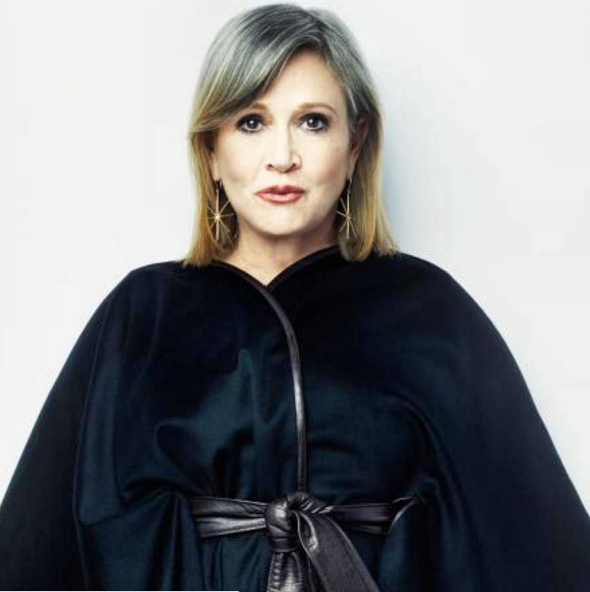 The elegant Carrie Fisher was told to shed some pounds before returning to the Star Wars franchise as Princess Leia. (Photo: Instagram, @iconhouse_la)