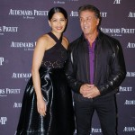 Freida Pinto and watch connoisseur Sylvester Stallone share a laugh after the Rocky star ironically arrived early to the Swiss watchmaker's grand opening. (Photo: Courtesy / Audemars Piguet)