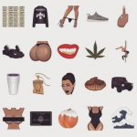 If you thought no one would have a use for a weed or a Yeezy Boost emoji, you're clearly not in touch with the Kim Kardashian generation. (Photo: Instagram, @kimkardashian)
