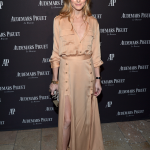 US socialite Olivia Palermo went the same route as Ambrosio and looked breath-taking in a plunging neckline, but opted for the nude dress over the snowy all-white suit. (Photo: Courtesy / Audemars Piguet)