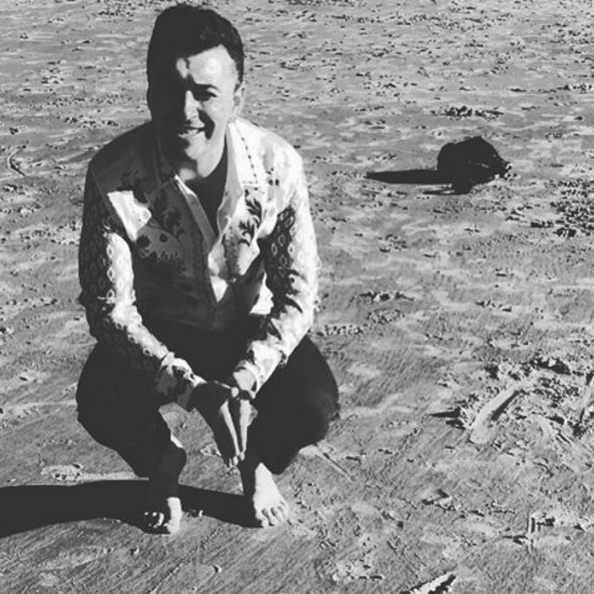 The eternally heartbroken Sam Smith has teased his fans with the title of his sophomore album. Can you make out what it is? (Photo: Instagram, @samsmithworld)