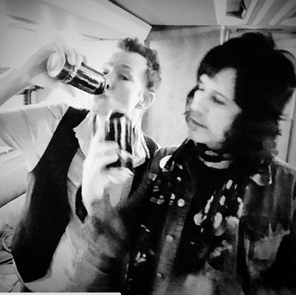 Scott Weiland seemed upbeat downing a can of energy drink before a performance this week. (Photo: Instagram, @scottweiland)