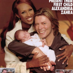 Bowie and Iman's daughter Alexandria Zahra Jones was born 15 August 2000. Iman also became stepmother to Bowie's son from a previous marriage, Duncan Jones (now 44). (Photo: Instagram, @blackcelebkids)