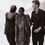 Iman once said on the Nate Berkus Show that life with Bowie (pictured here with South African singer Miriam Makeba) was indeed as fantastic as anyone could imagine. (Photo: Instagram, @homecomingrevolution)