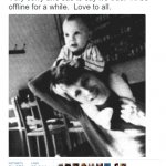 Bowie's son Duncan Jones shared this tender moment with his father as he announced the heartbreaking news. (Photo: Twitter, @ManMadeMoon)