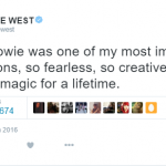 Kanye West expectedly chimed in, but with unexpected humility and grace. (Photo: Twitter, @kanyewest)
