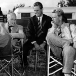 Allen/Farrow family – John Farrow (pictured left), grandfather-in-law: 1 Oscar for Around the World in 80 Days (1956) (Photo: Instagram, @vintagemovieclub)
