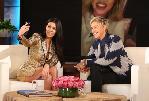 The reality TV star was very upbeat and chatty during her appearance. (Photo: Instagram, @theellenshow)