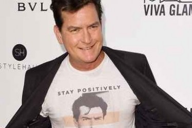 "Exclusive! Charlie Sheen: ""I'm at the AIDS Oscar party and I brought my HIV!"""