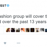 He then proposed that other fashion houses pay off his debt. (Photo: Twitter, @kanyewest)