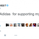 He also praised sports brand Adidas for their continued support of his creative vision. (Photo: Twitter, @kanyewest)