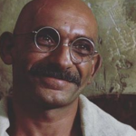 Ben Kingsley as Mohandas Karamchand Gandhi in Gandhi (1982) (Photo: Instagram, @omar_life_long_living)