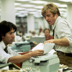 All the President's Men (1976) – Directed by Alan J. Pakula and starring Dustin Hoffman, Robert Redford, Jack Warden, Martin Balsam. (Photo: Instagram, @filmaffinity)