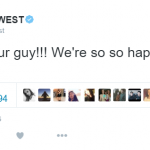 Rapper Kanye West backed a winner other than himself for once. (Photo: Twitter, @kanyewest)