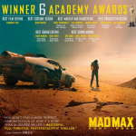 Mad Max: Fury Road – 6 Oscar wins: Best costume design, Best production design, Best make-up and hair, Best editing, Best sound editing, Best sound mixing. (Photo: Instagram, @madmaxmovie)