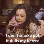 Sara Gilbert - Darlene Conner in Roseanne (Photo: Instagram, @prevailing_atrocity)