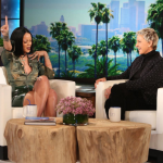 Rihanna admitted that she has texted naked selfies before…and seen naked rappers. (Photo: Instagram, @theellenshow)