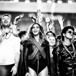 Chris Martin, Beyoncé and Bruno Mars were showered with praise for their energetic performance. (Photo: Instagram, @inesloveslife)