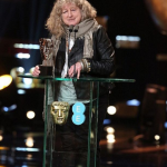 "Host Stephen Fry caused some controversy by calling Best Costume Design winner Jenny Beavan a ""bag lady"" before deleting his Twitter account. (Photo: Instagram, @thedailydailymail)"