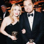 BAFTA winners and good friends Kate Winslet and Leonardo DiCaprio always make for a good shot together. (Photo: Instagram, @new.fashionlove)