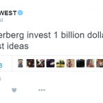 The rapper was vague about his ideas, but quite clear in the sum of money needed. (Photo: Twitter, @kanyewest)