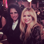 Lavigne and Kroeger shared the table with rock icon Alice Cooper. (Photo: Instagram, @avrillavigne)